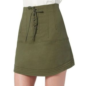 Marissa Webb Adley Lace Up Skirt Olive Green